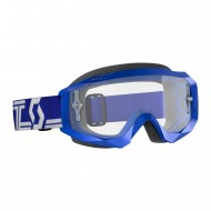 OFFER SCOTT HUSTLE X MX GOGGLE 2019 COLOR BLUE / WHITE - CLEAR WORKS LENS