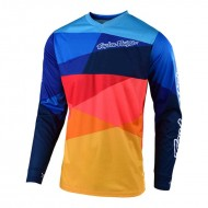 CAMISETA TROY LEE 2019 INFANTIL GP AIR JET AZUL MARINO/NARANJA