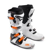 ALPINESTARS TECH 8RS KTM BOOTS WHITE / BLACK / ORANGE
