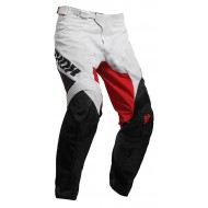 PANTALÓN THOR PULSE AIR FACTOR 2020 COLOR BLANCO / ROJO