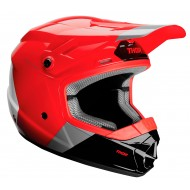 OFFER THOR YOUTH SECTOR BOMBER HELMET 2020 RED / CHARCOAL COLOUR