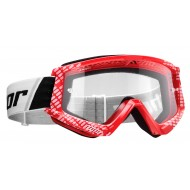 THOR YOUTH COMBAT CAP GOGGLES RED / WHITE COLOUR
