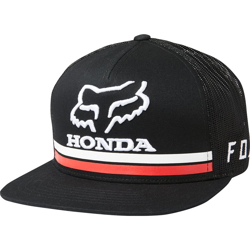 4753dfbac FOX HONDA SNAPBACK HAT BLACK COLOUR 22996-001-OS - MotocrossCenter.com
