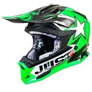 OFFER JUST1 J32 MOTO X KIDS HELMET GREEN SIZE L