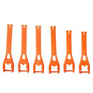 BUCKLE / STRAP KIT 6 PIECES FOX COMP 5Y/3Y ORANGE FLUOR