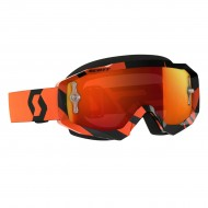 OFFER SCOTT HUSTLE MX BLACK/ORANGE COLOUR - ORANGE CHROME WORKS LENS