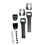 KIT CORREAS/HEBILLAS POLIURETANO BOTAS TCX COMP KID COLOR NEGRO/BLANCO