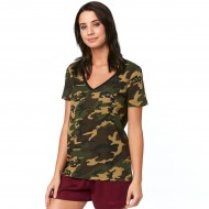 OUTLET CAMISETA MUJER FOX FALCON COLOR CAMUFLAJE