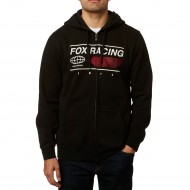 OUTLET SUDADERA FOX GLOBAL ZIP COLOR NEGRO