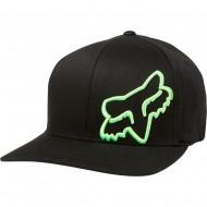 FOX FLEX 45 FLEXFIT HAT BLACK / GREEN COLOUR
