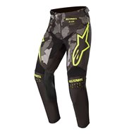 YOUTH ALPINESTARS RACER TACTICAL PANTS 2020 BLACK/GREY CAMO/YELLOW FLUO