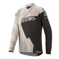 YOUTH ALPINESTARS RACER FACTORY JERSEY 2020 FLUO GREY/BLACK/RUST