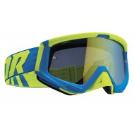 THOR SNIPER GOGGLES 2021 BLUE / FLUO ACID COLOUR - MIRRORED LIME LENS