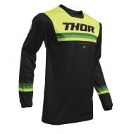THOR YOUTH PULSE AIR PINNER JERSEY 2020 BLACK / ACID COLOUR