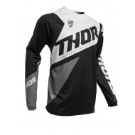 THOR YOUTH SECTOR BLADE JERSEY 2020 BLACK / WHITE COLOUR