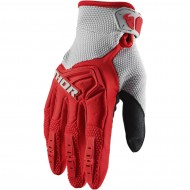 THOR YOUTH SPECTRUM GLOVES 2020 RED / GREY COLOUR