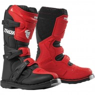THOR YOUTH BLITZ XP BOOTS 2022 RED / BLACK COLOUR