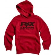 OFFER FOX YOUTH CHARGER PULLOVER FLEECE CARDINAL COLOUR
