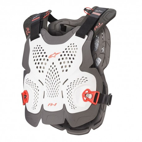 Sequence Off-Road Motocross Chest Protector Extra Large// 2 XL, Anthracite Red