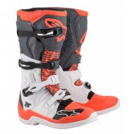 BOTAS ALPINESTARS TECH 5 2020 COLOR BLANCO / GRIS / ROJO FLUOR