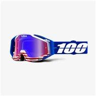 GAFAS 100% RACECRAFT ANTHEM - LENTE ESPEJO ROJO / AZUL