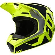 FOX YOUTH V1 PRIX SPECIAL EDITION LOVL HELMET 2020 BLACK / YELLOW FLUO COLOUR