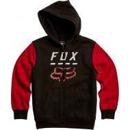 OUTLET SUDADERA INFANTIL FOX HIGHWAY COLOR NEGRO / ROJO