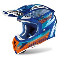 AIROH AVIATOR HELMET 2.3 NOVAK 2020 AZURE CHROME COLOUR