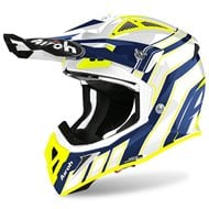 AIROH AVIATOR HELMET ACE ART 2020 BLUE GLOSS COLOUR