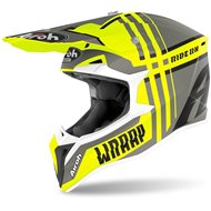 CASCO AIROH WRAAP BROKEN 2020 COLOR AMARILLO BRILLO