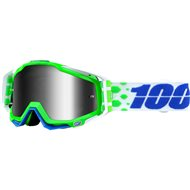 OFFER MOTOCROSS GOGGLE 100% RACECRAFT BOBORA RED/MULTICOLORED/WHITE ANTI-FOG