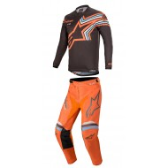 OUTLET COMBO ALPINESTARS RACER BRAAP 2020 COLOR GRIS OSCURO / NARANJA FLUOR