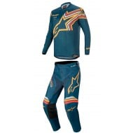 OFFER COMBO ALPINESTARS RACER BRAAP 2020 NAVY / ORANGE COLOUR