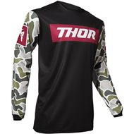 THOR PULSE FIRE JERSEY 2020 BLACK / MAROON COLOUR