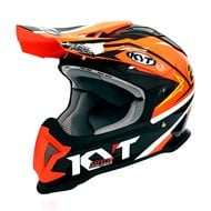 OFFER HELMET OFF ROAD KYT STRIKE EAGLE SIMPSON REPLICA ORAMGE FLUO