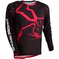 CAMISETA MOOSE AGROID 2020 COLOR NEGRO / ROJO