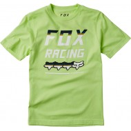 FOX YOUTH FULL COUNT SHORT SLEEVE TEE LIME COLOUR