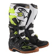 ALPINESTARS TECH 7 SPECIAL EDITION SEATTLE SPACE BOOTS 2020 BLACK / WHITE / FLUO YELLOW / GOLD COLOUR