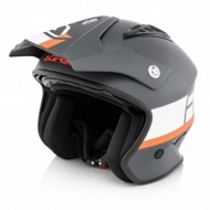 OUTLET CASCO ACERBIS JET ARIA COLOR GRIS/BLANCO