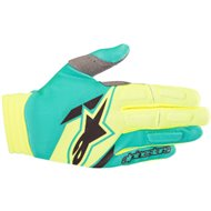 OFFER GLOVE ALPINESTARS AVIATOR COLOR YELLOW / TEAL