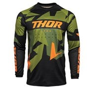 THOR SECTOR VAPOR JERSEY 2021 GREEN / ORANGE COLOUR