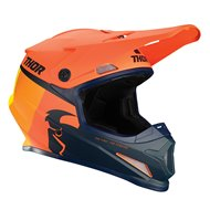 CASCO THOR SECTOR RACER 2021 COLOR NARANJA / MEDIANOCHE