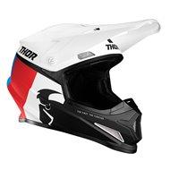 CASCO THOR SECTOR RACER 2021 COLOR BLANCO / AZUL / ROJO