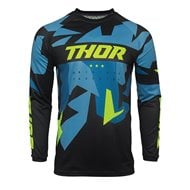 THOR SECTOR VAPOR JERSEY 2021 BLUE / ACID COLOUR