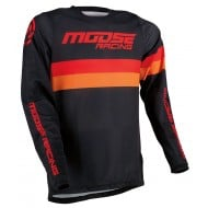 MOOSE SAHARA JERSEY 2021 BLACK / ORANGE / RED COLOUR