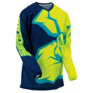 YOUTH MOOSE AGROID JERSEY 2021 NAVY / YELLOW / TEAL COLOUR