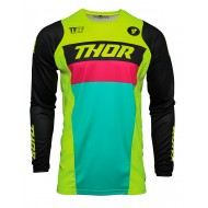 THOR PULSE RACER JERSEY 2021 ACID / BLACK COLOUR