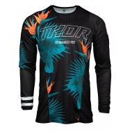 YOUTH THOR PULSE TROPIX JERSEY 2021 BLACK / WHITE COLOUR