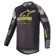 ALPINESTARS YOUTH RACER TACTICAL JERSEY 2021 COLOR CAMUFLAJE GRIS / AMARILLO FLUOR