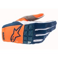 ALPINESTARS RACEFEND GLOVES 2021 ORANGE / DARK BLUE COLOUR